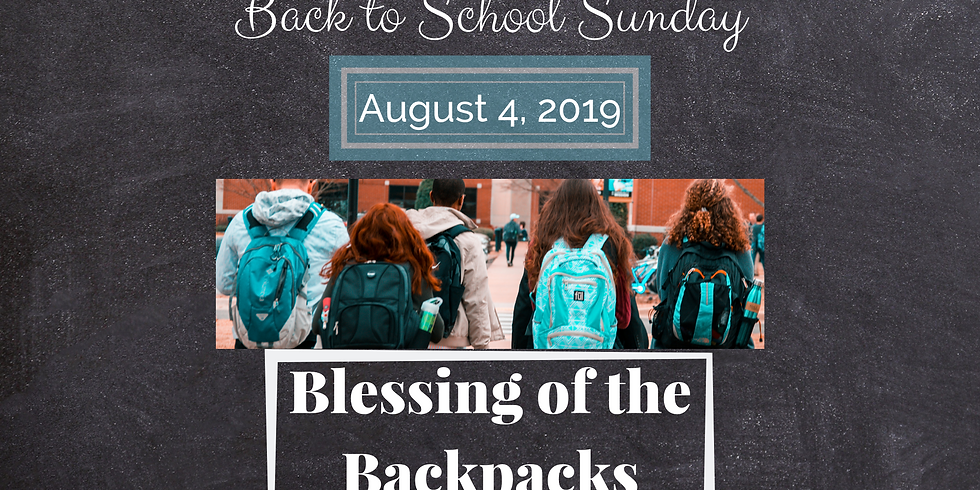 Back to School Sunday!