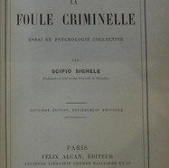 «La foule criminelle, essai de psychologie collective» - Scipio Sighele - 20€
