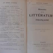 «Histoire de la littératire française» - Gustave Lanson - 20€