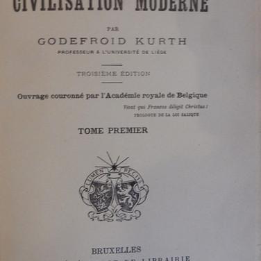 «Les origines de la civilisation moderne» - Godefroid Kurth - 20€