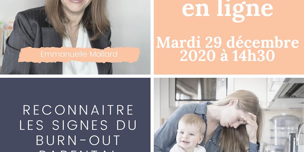 Mini-atelier: Reconnaitre les signes du Burn-out parental