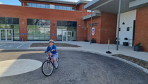 Big Pedal - our new school is well designed to cater for cyclists!