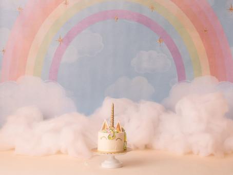 Unicorn Themed Cake Smash Session|Moseley VA Photographer