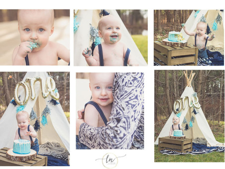 Outdoor Cake Smash Session|Moseley VA Photographer