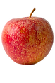With red and green skin, this apple is noted for a tart flavor and a tender white flesh.