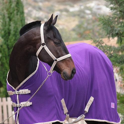 Попона флисовая HORSE ONE Basic Home. Фиолетовая с ремнями»