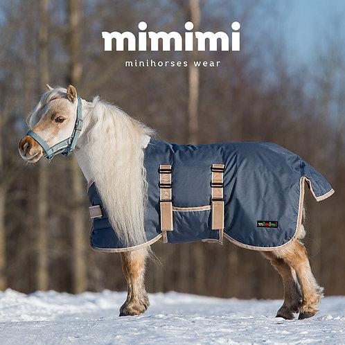 Попона зимняя прогулочная с подпузником для жеребят и миниатюрных лошадей