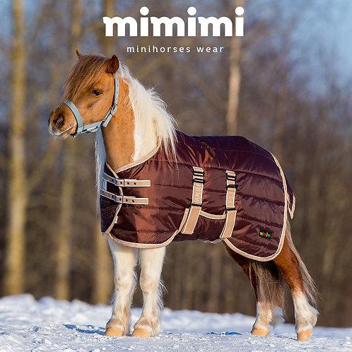Попона зимняя денниковая mimimi Chocolate для жеребят с подпузником