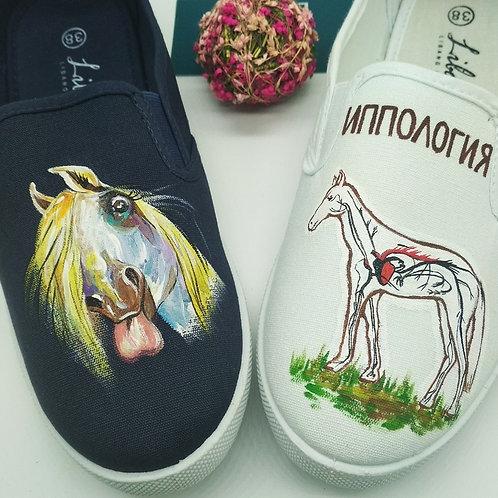 Обувь с индивидуальным дизайном (слипоны)