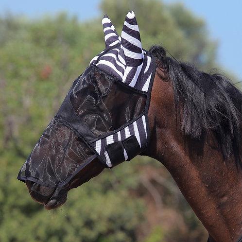 Маска антимоскитная MIU Equus Zebra с защитой носа