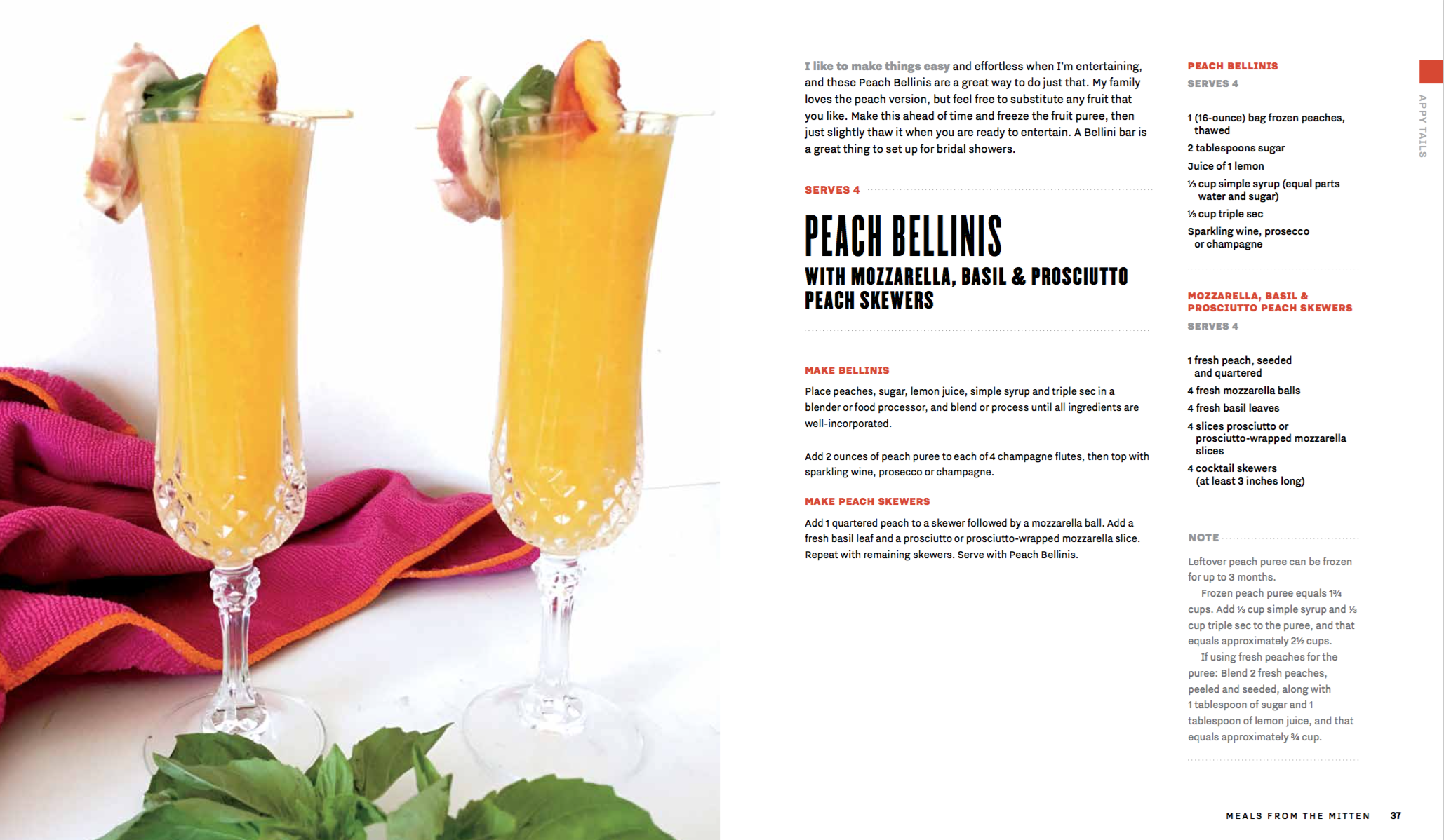 Peach Bellinis Recipe Card