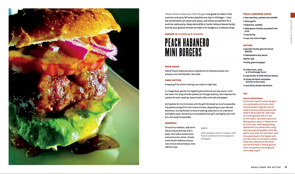 Peach Habanero Burgers