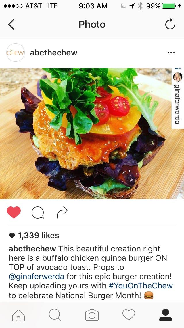 Nom News - ABC The Chew Burger