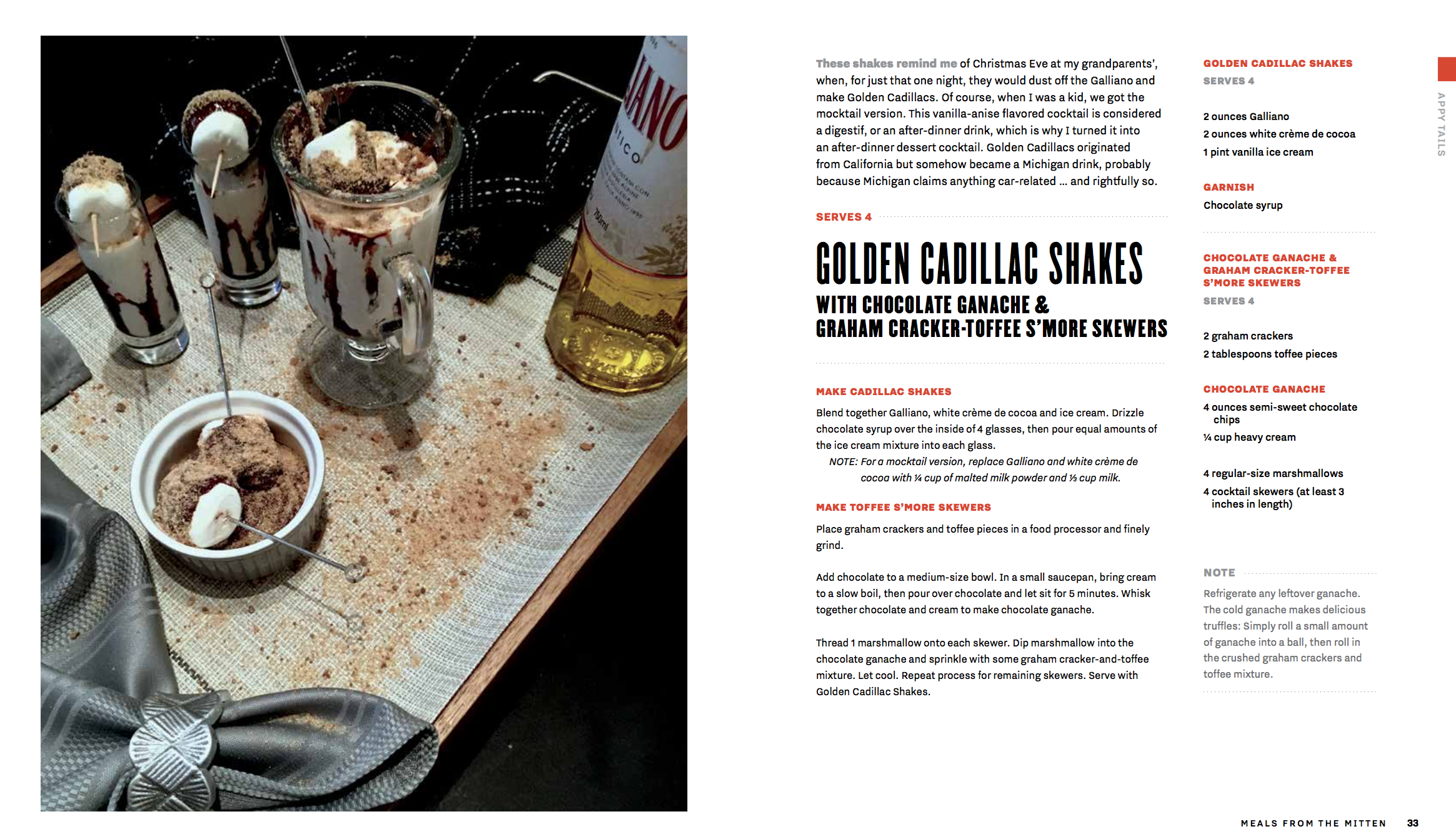 Golden Cadillac Shakes Recipe Card