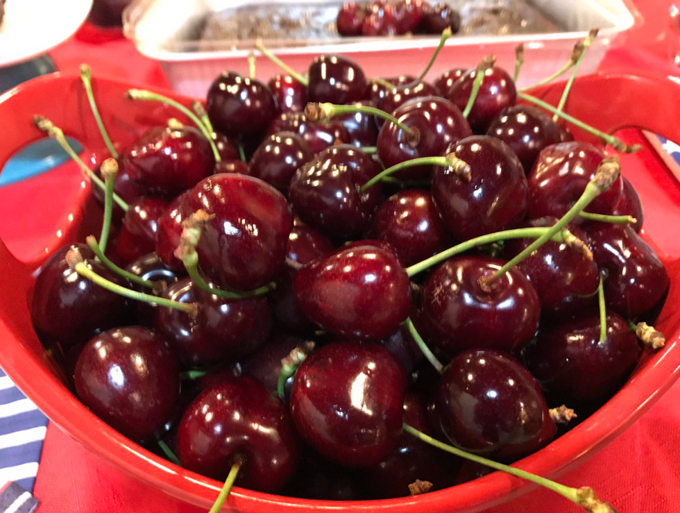 Chocolate Fudge Triple Cherry Brownies