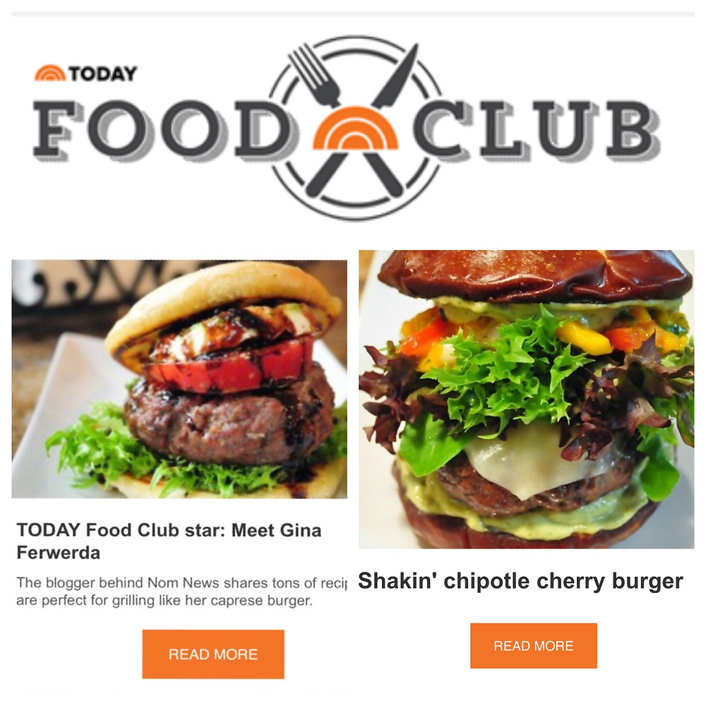 TODAY Food Club Star - Gina Ferwerda - Burgers