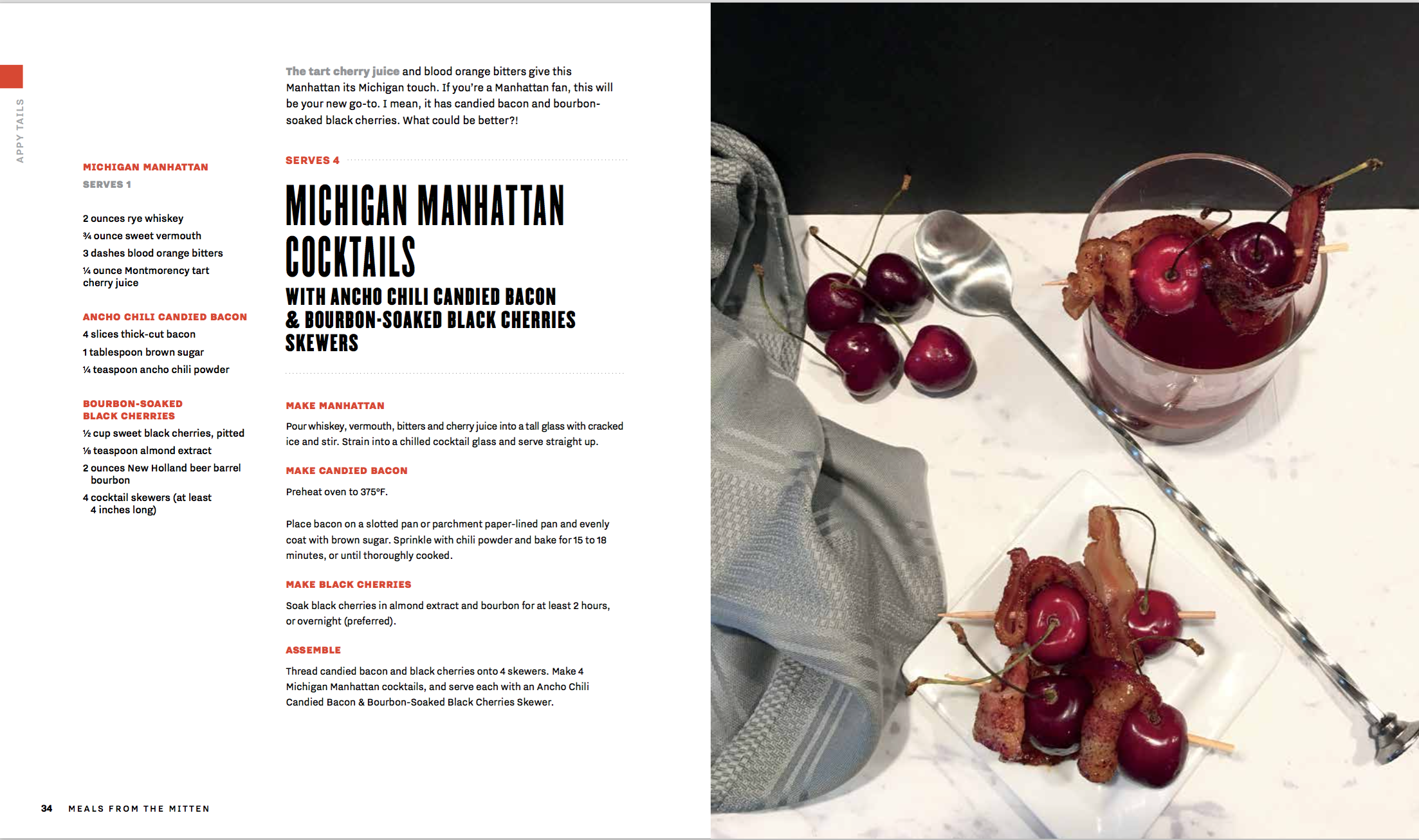 Michigan Manhattan REcipe Card