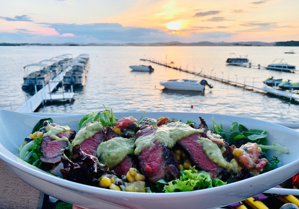 Steak & Corn Salad with an Avocado Lime Cilantro Dressing
