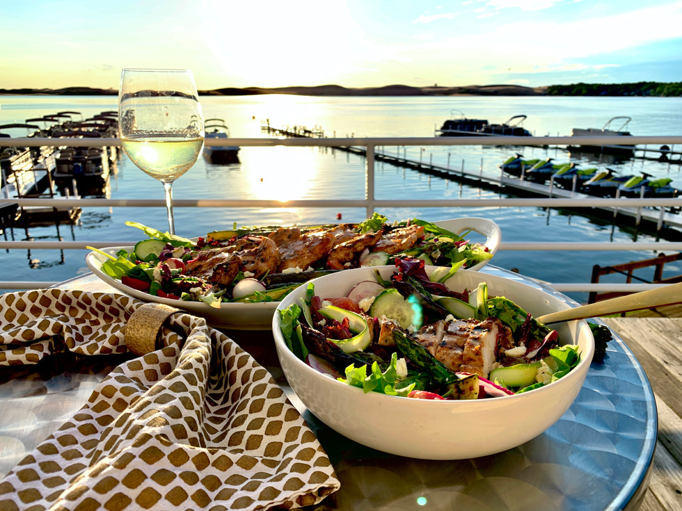 Grilled Chicken & Asparagus Salad with Sauvignon Blanc Vinaigrette
