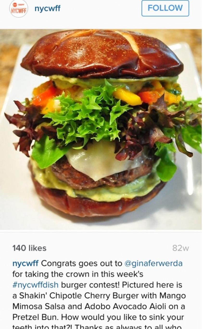 NYCWFF - Shakin' Chipotle Cherry Burger
