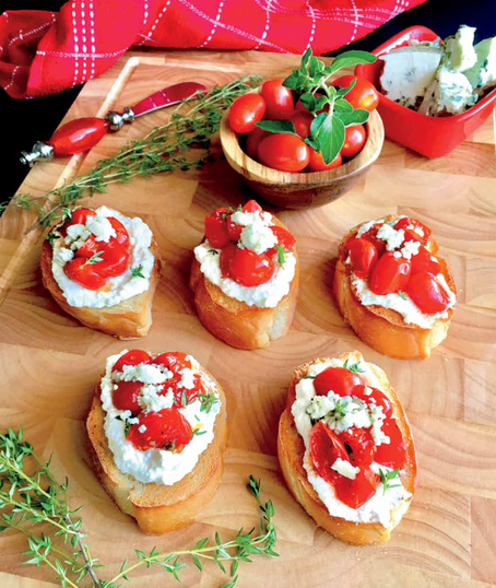 Roasted & Toasted Tomato Crostini