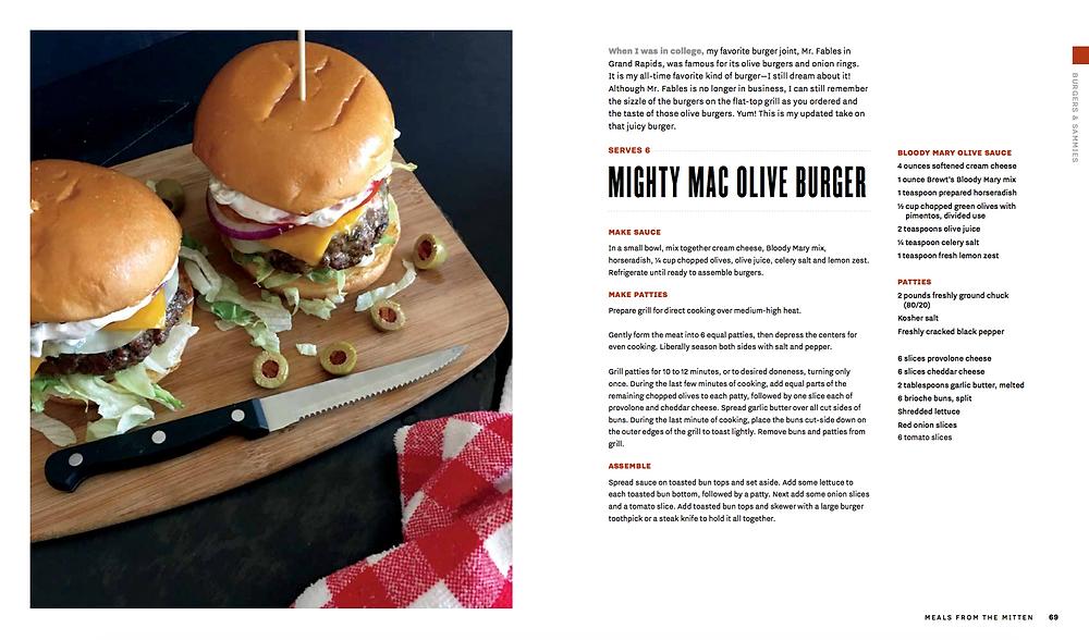 Mighty Mac Olive Burger
