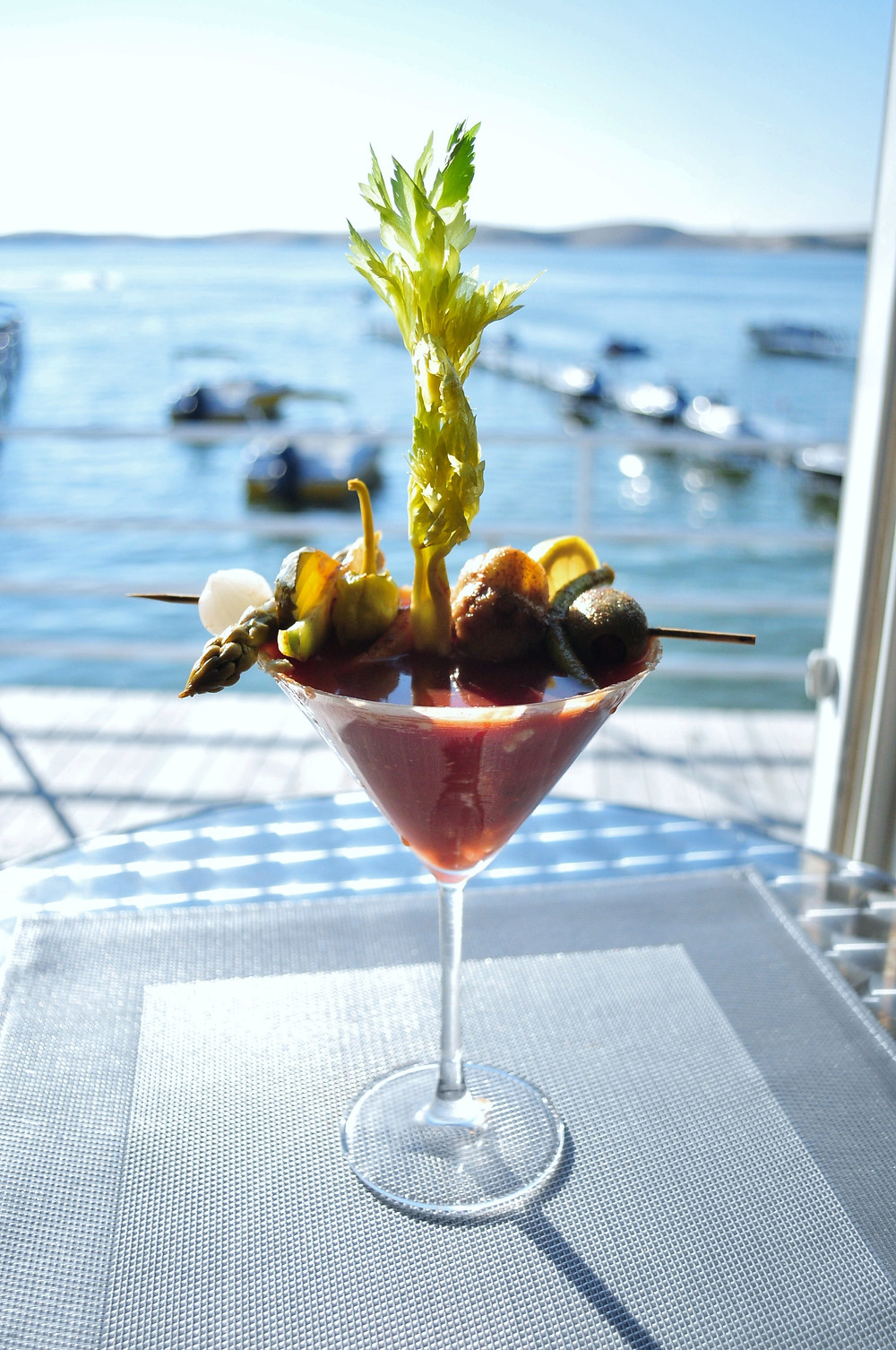 Blue Cheese Rimmed Bloody Mary-Tini