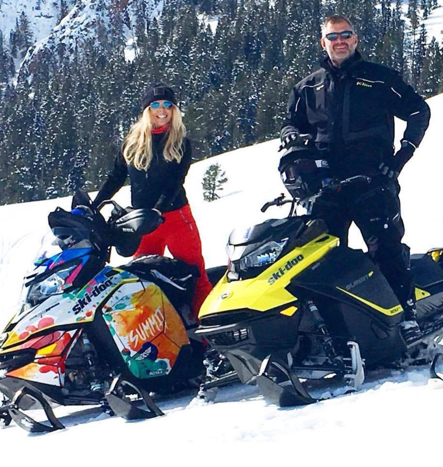 Gina Ferwerda Snowmobiling