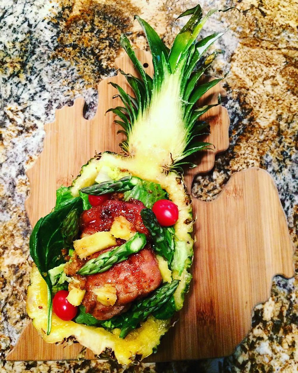 Teriyaki Chicken Pineapple Bowl - Nom News