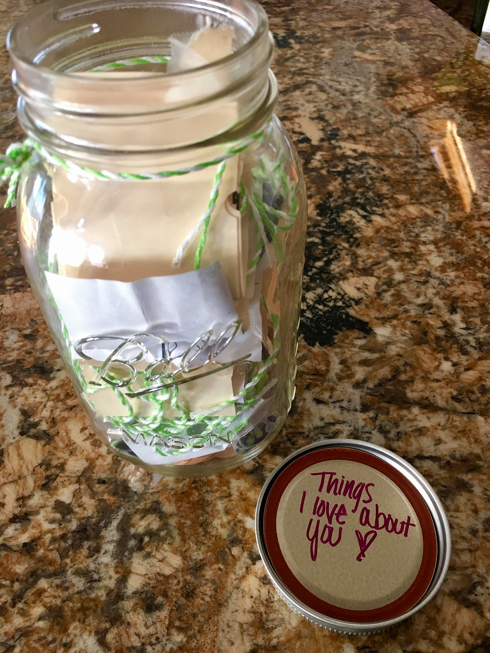 Mason Jar Notes for Mom - DIY project for Mother's Day