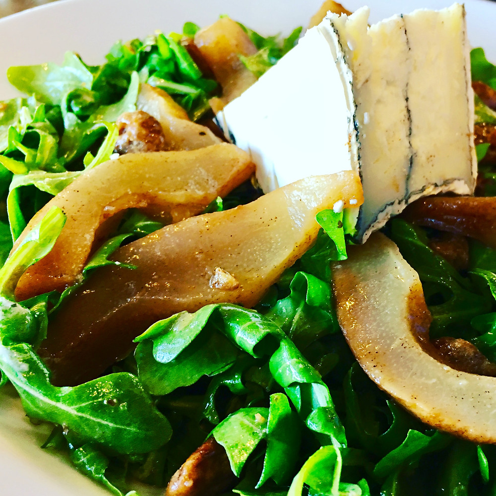 Slow Roasted Bosc Pear Salad