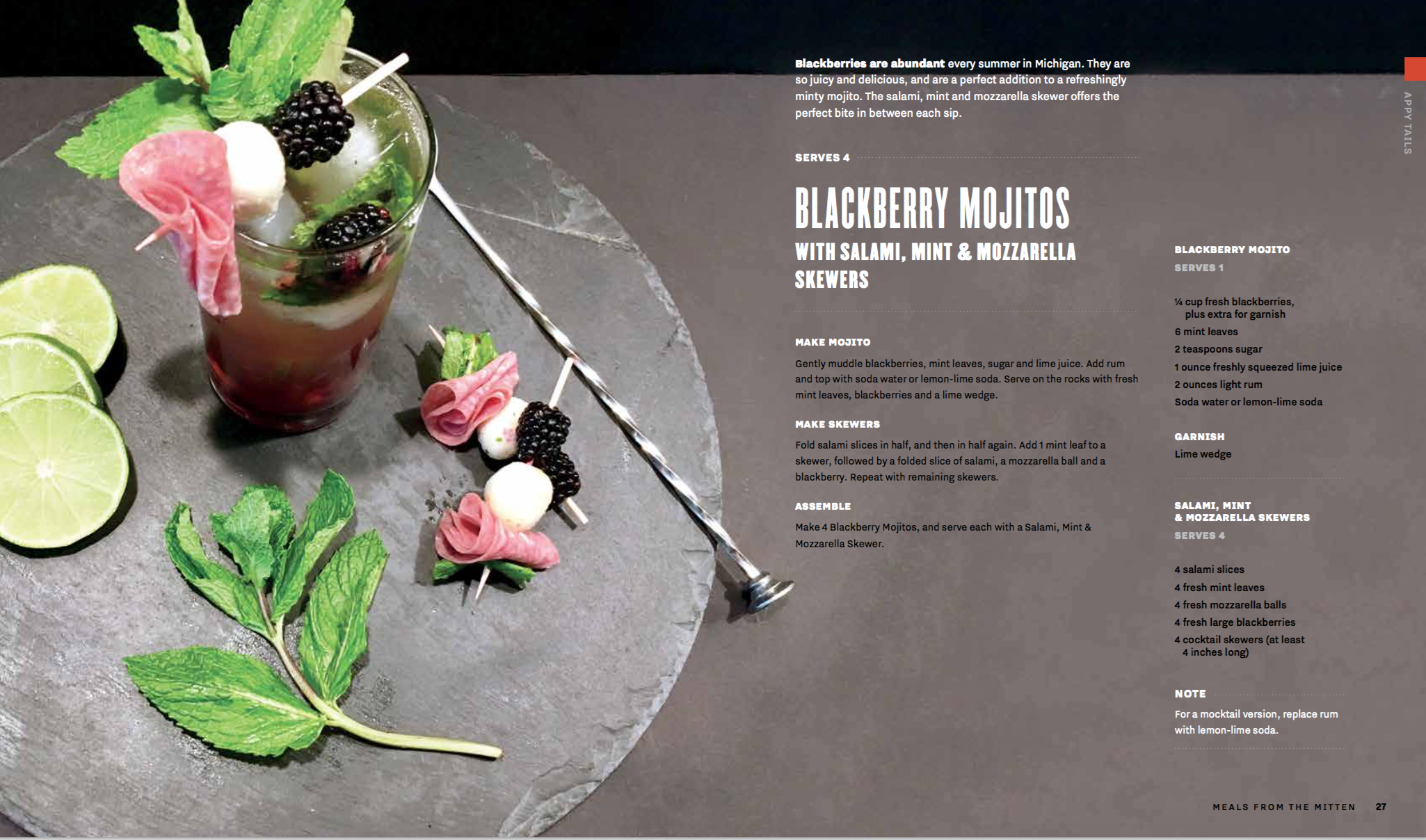 Blackberry Mojitos Recipe Card