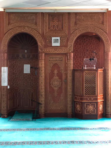 Main prayer hall mimbar