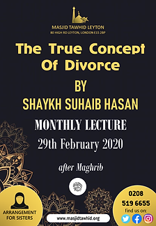 True Concept of Divorce by Shaykh Suhaib Hasan