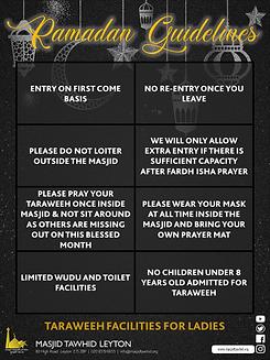 Teraweeh Guidelines