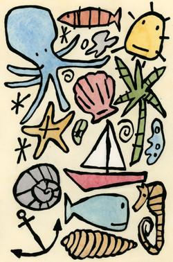 Seaside pattern design