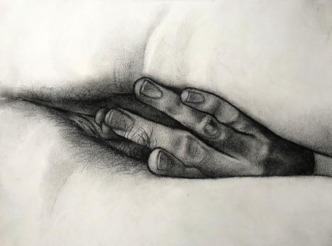 Untitled hand study (S.)