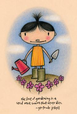 Garden girl journal cover
