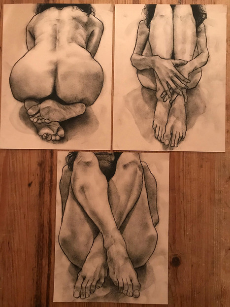 Three commissioned drawings