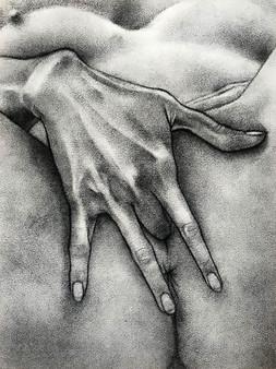 Untitled hand study (R.)