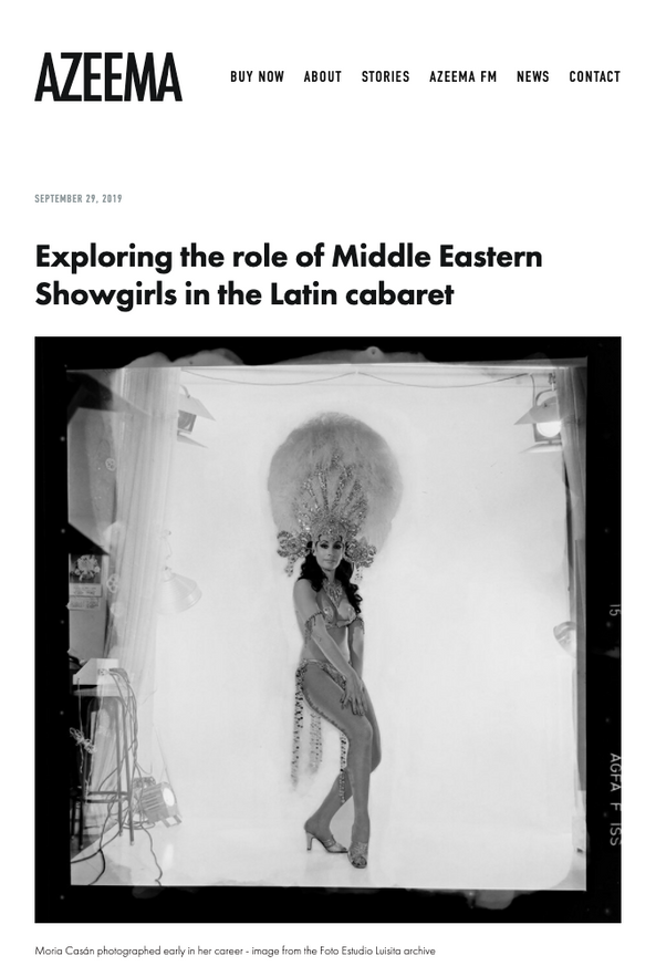Exploring the role of Middle Eastern Showgirls in the Latin cabaret - Azeema