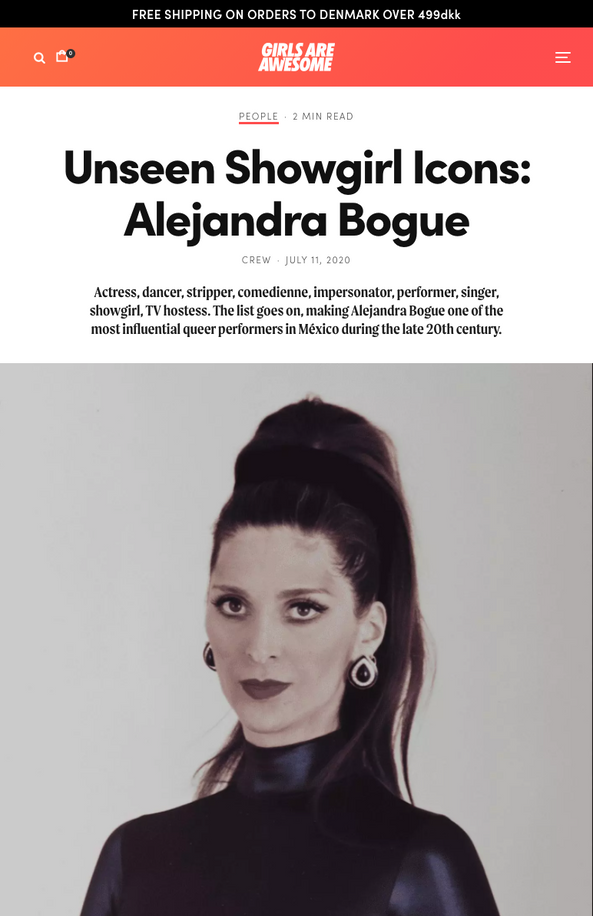 Unseen Showgirl Icons: Alejandra Bogue - Girls Are Awesome
