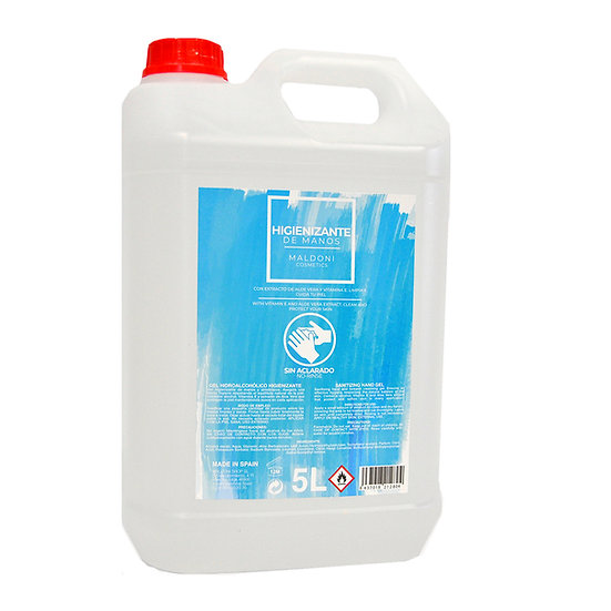 Gel hidroalcohólico higienizante de manos - Garrafa 5 L