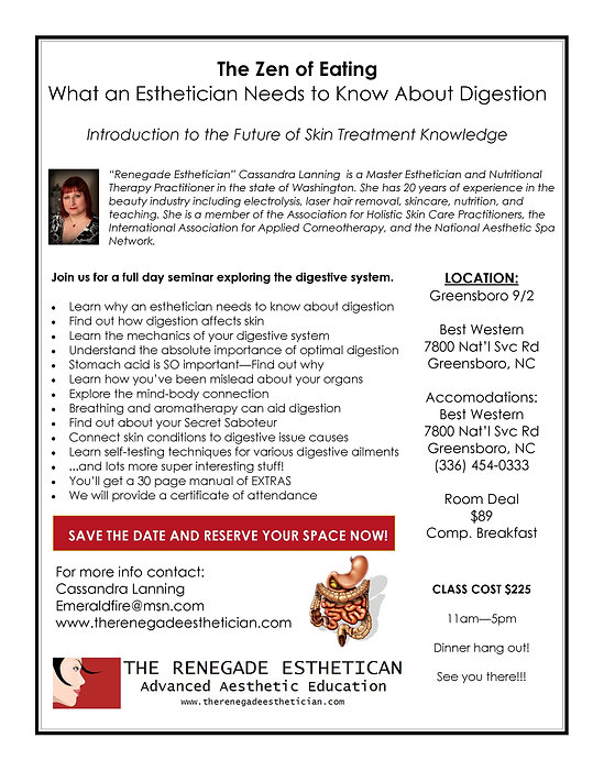 The Renegade Esthetician - Radical Skin Education
