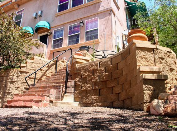 Retaining Wall in Colorado Springs built