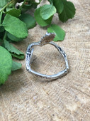 Sterling Silver - Twig and Leaves Ring