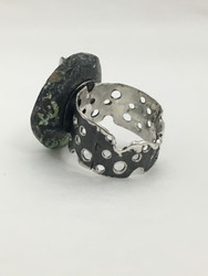 Swiss Cheese Ring with Lifesaver-Cut Stone