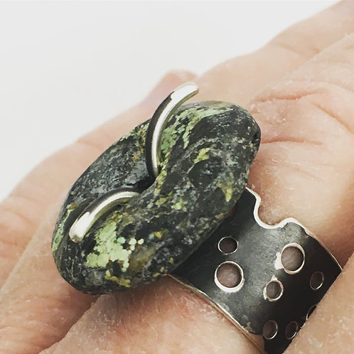 Lifesaver-Cut Stone and Swiss Cheese-Cut Ring