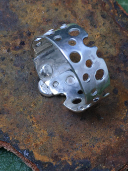 Sterling Silver Swiss Cheese Ring