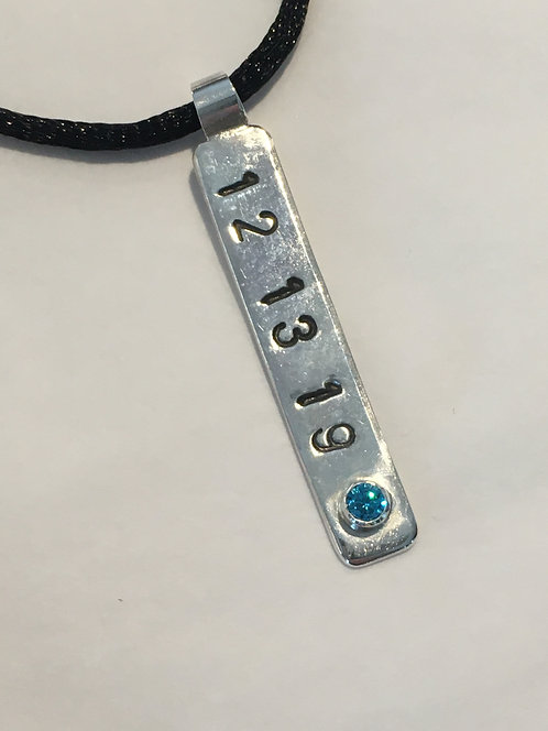 Custom - Hand-Stamped with Birthstone